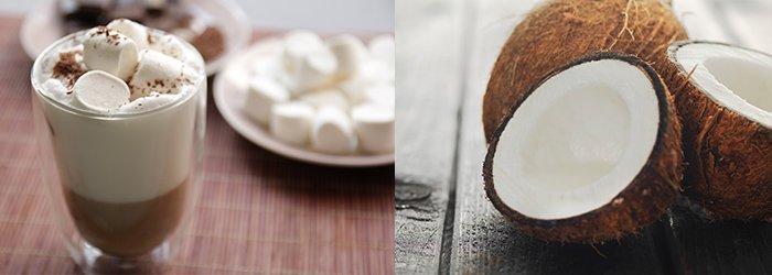 Kookospähkli jääkohv. Kohvisemu