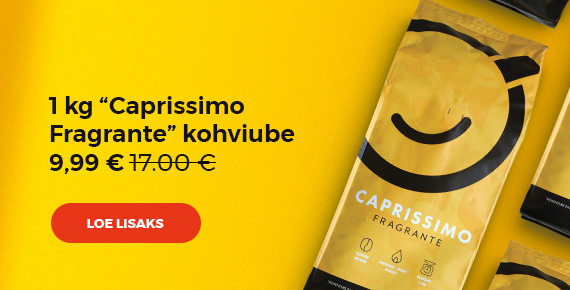 "1 kg ""Caprissimo Fragrante"" kohviube 9,99 €"