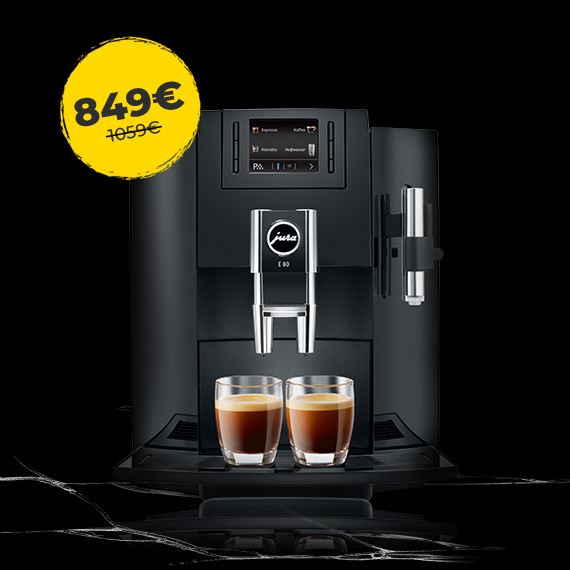 JURA E80 erilise 949 € hinnaga + 0% järelmaks