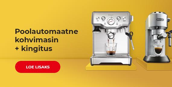 Osta poolautomaatne kohvimasin ja saa kohvi kingituseks
