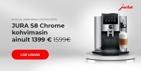 JURA S8 Chrome kohvimasin ainult 1399 €