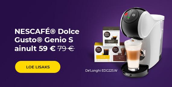 Kohvimasin NESCAFÉ® Dolce Gusto® GENIO S EDG225.W ainult 59 €