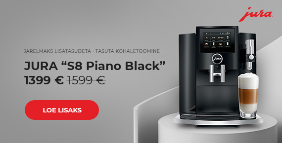 "Kohvimasin JURA ""S8 Piano Black"" ainult 1399€"