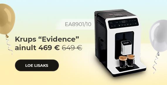 """Krups """"Evidence EA8901/10"""" kohvimasin ainult 469 €"""