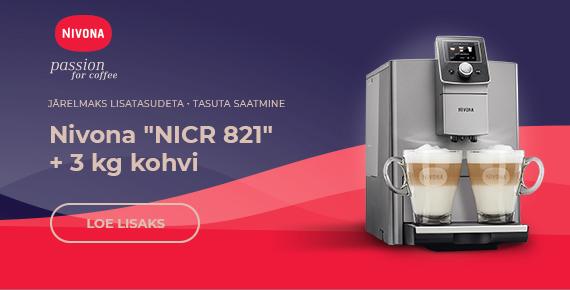 """Nivona """"NICR 821"""" + 3 kg kohvi"""