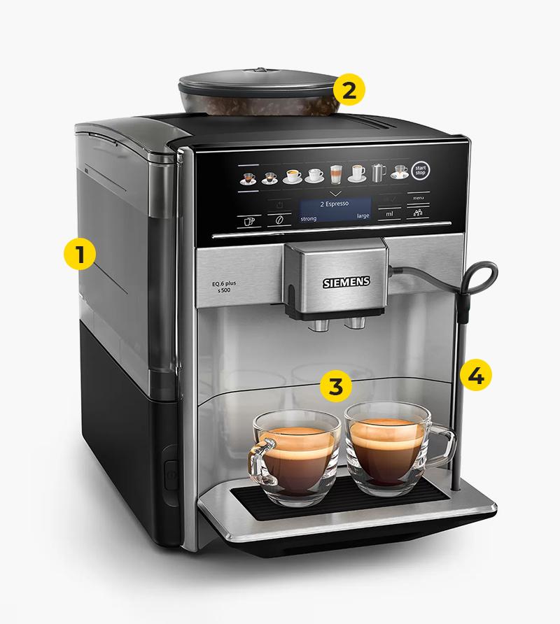 Kohvimasina tehnilised eelised